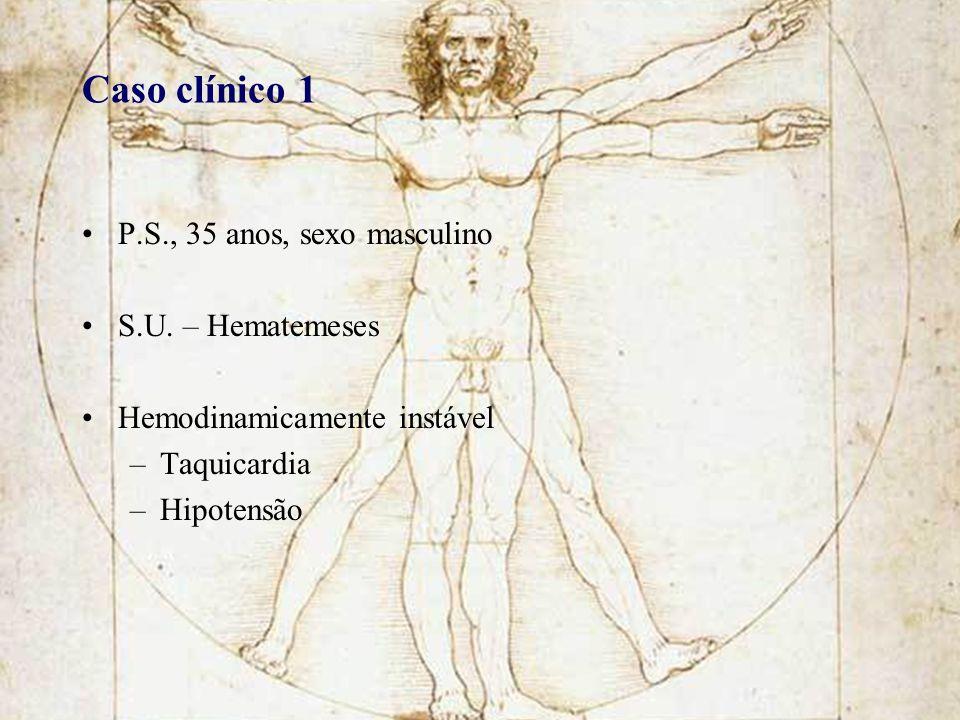 Caso clínico 1 P.S., 35 anos, sexo masculino S.U. – Hematemeses