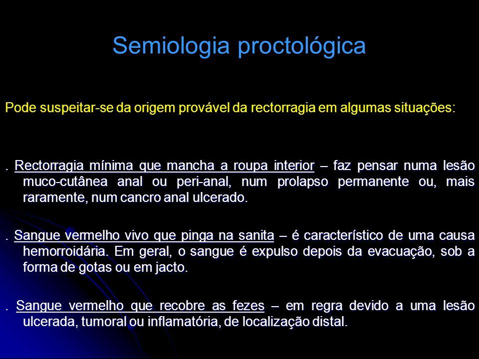 Semiologia proctológica