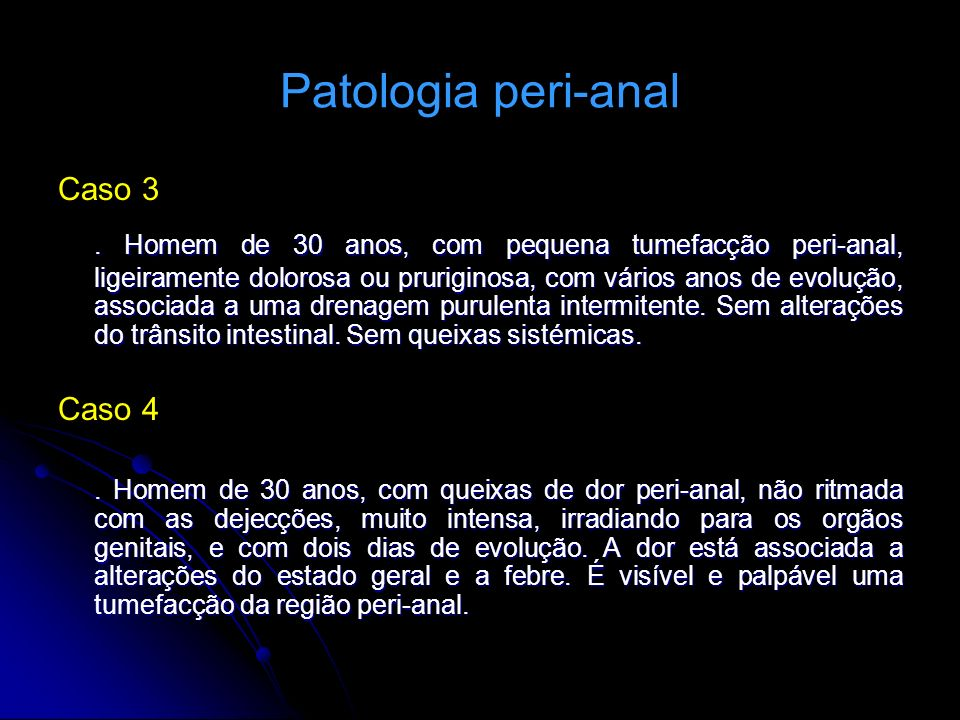 Patologia peri-anal Caso 3.