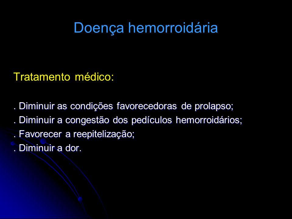 Doença hemorroidária Tratamento médico: