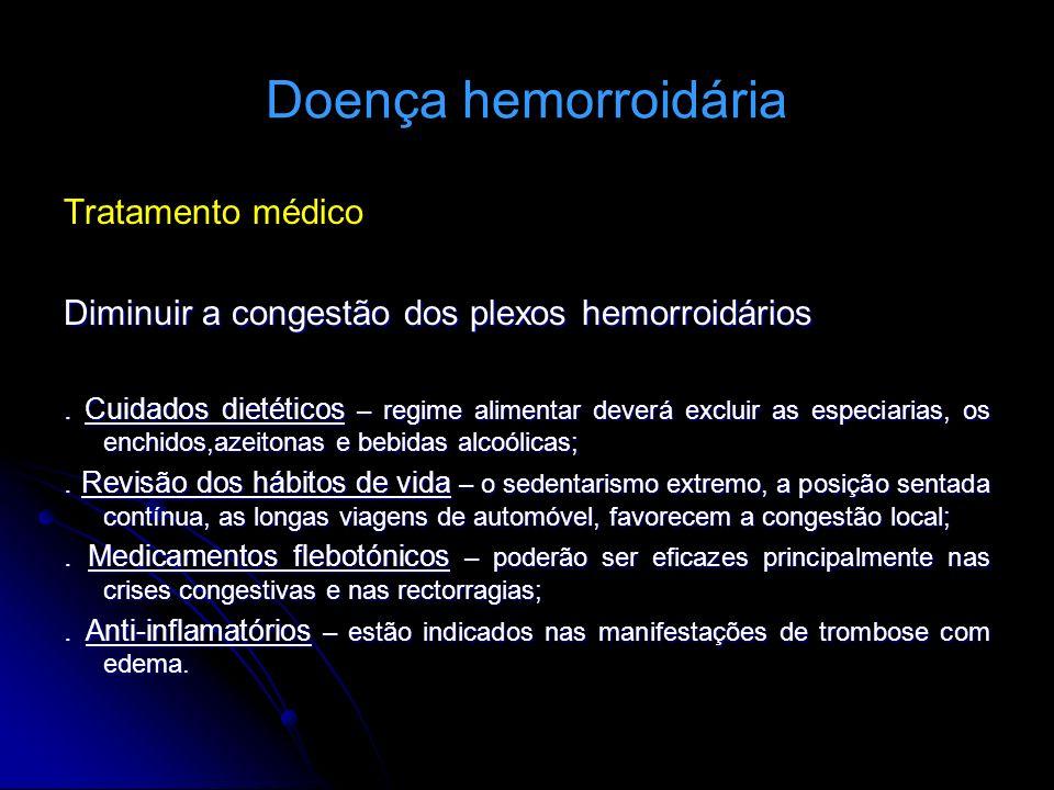 Doença hemorroidária Tratamento médico