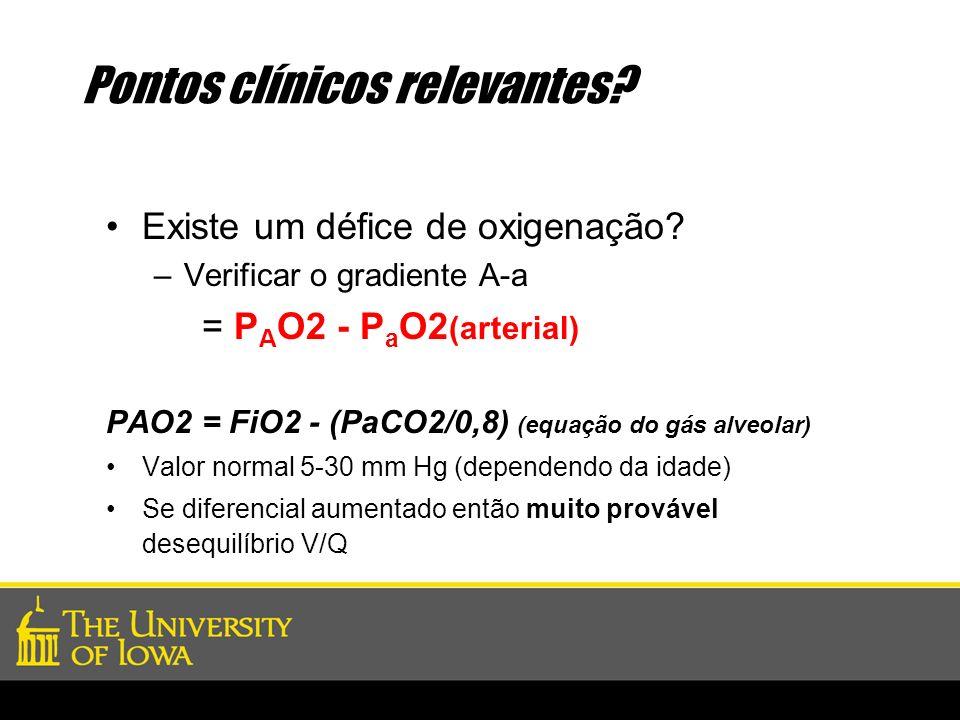 Pontos clínicos relevantes