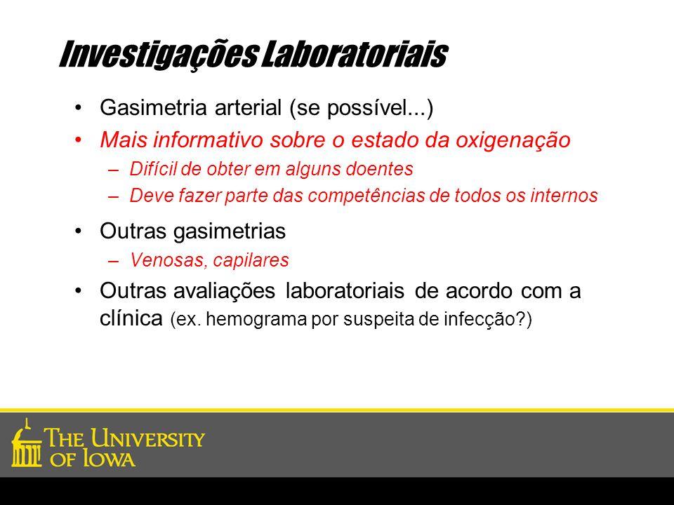 Investigações Laboratoriais