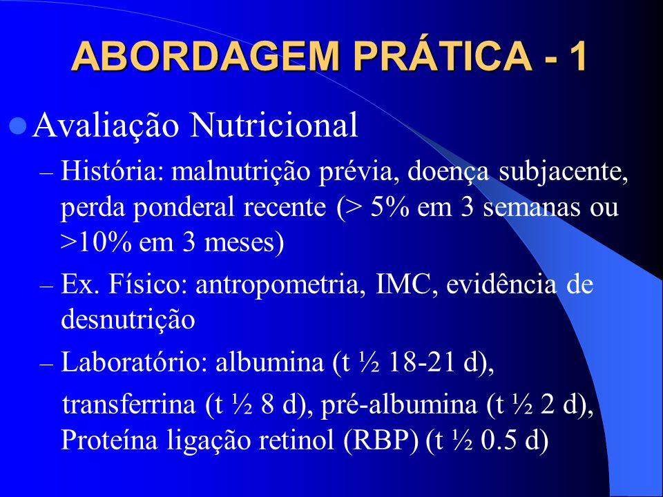 ABORDAGEM PRÁTICA - 1 Avaliação Nutricional