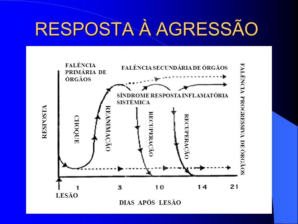 RESPOSTA À AGRESSÃO RESPOSTA REANIMAÇÃO CHOQUE LESÃO DIAS APÓS LESÃO