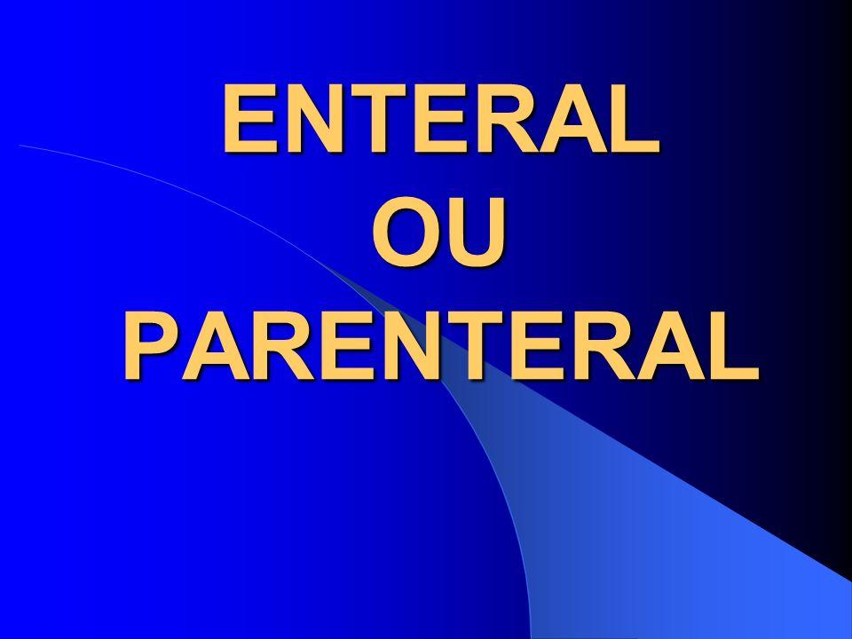 ENTERAL OU PARENTERAL Enteral ou parenteral……………eis a questão!!!