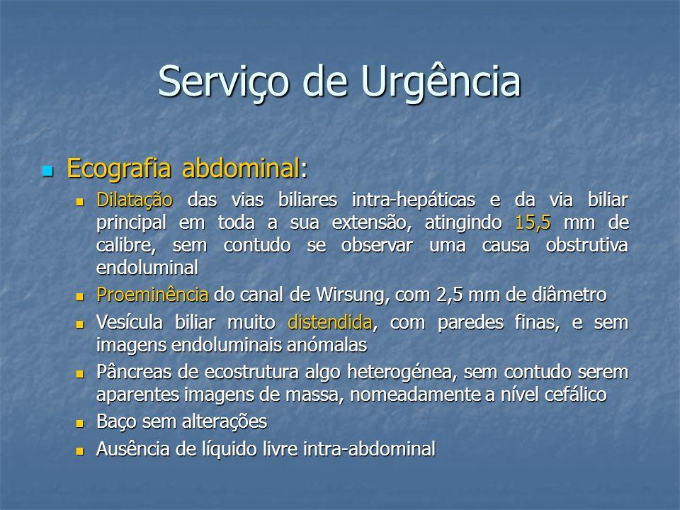 Serviço de Urgência Ecografia abdominal: