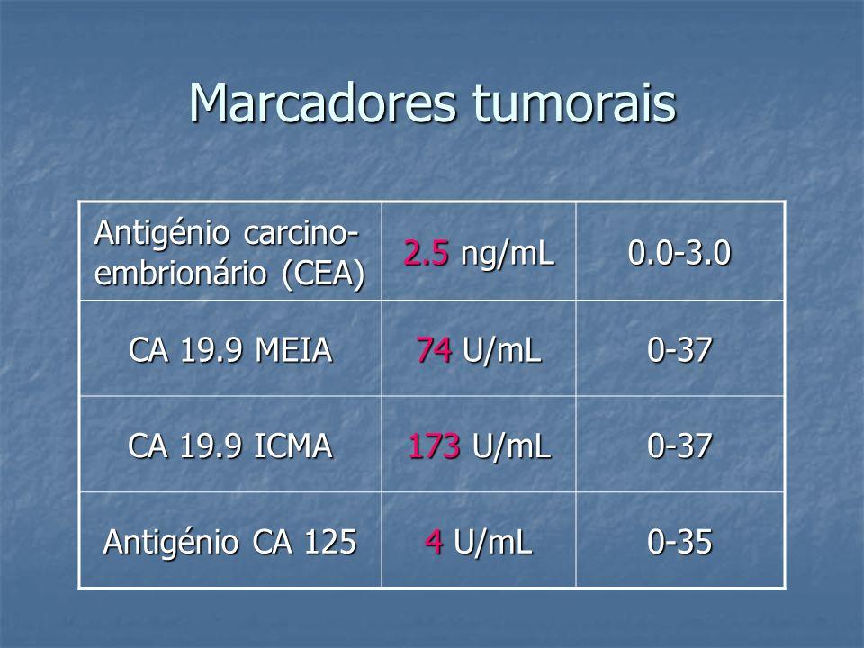Marcadores tumorais Antigénio carcino-embrionário (CEA) 2.5 ng/mL