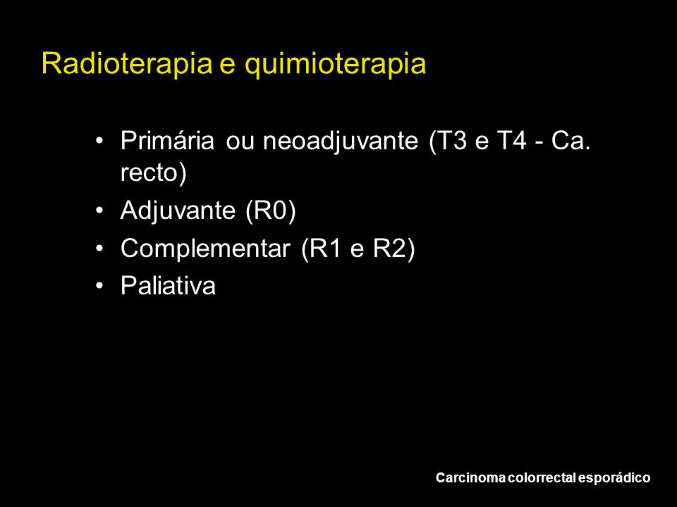 Radioterapia e quimioterapia