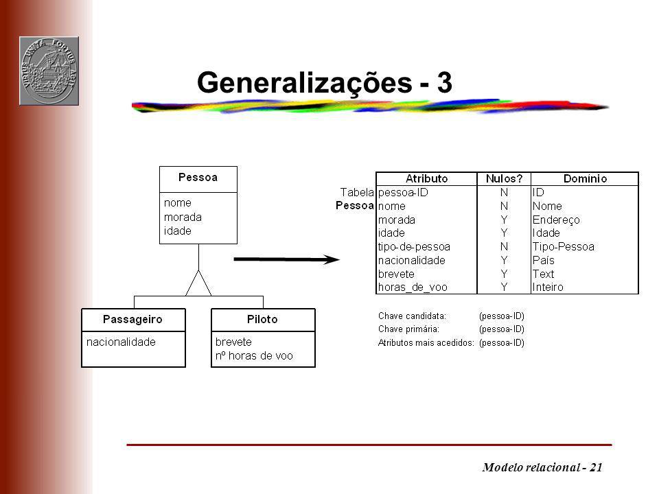 Generalizações - 3