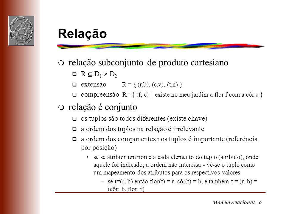 Relação relação subconjunto de produto cartesiano relação é conjunto