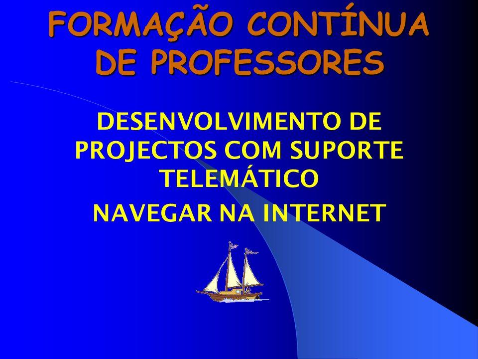 FORMAÇÃO CONTÍNUA DE PROFESSORES