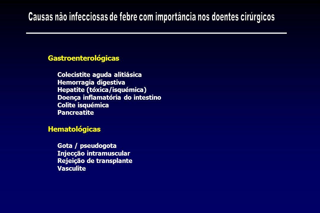 Causas não infecciosas de febre com importância nos doentes cirúrgicos