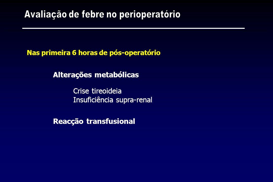 Avaliação de febre no perioperatório