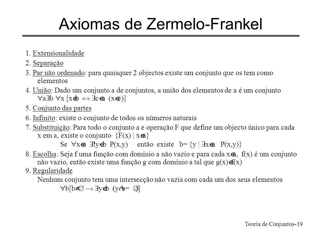 Axiomas de Zermelo-Frankel