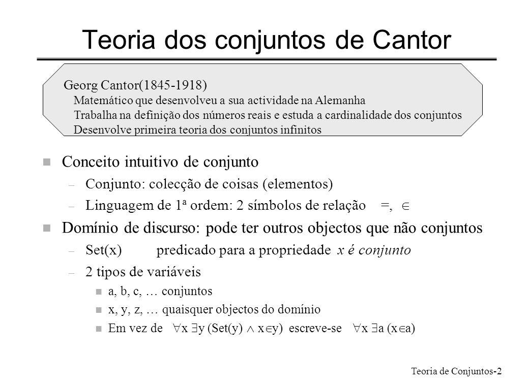 Teoria dos conjuntos de Cantor