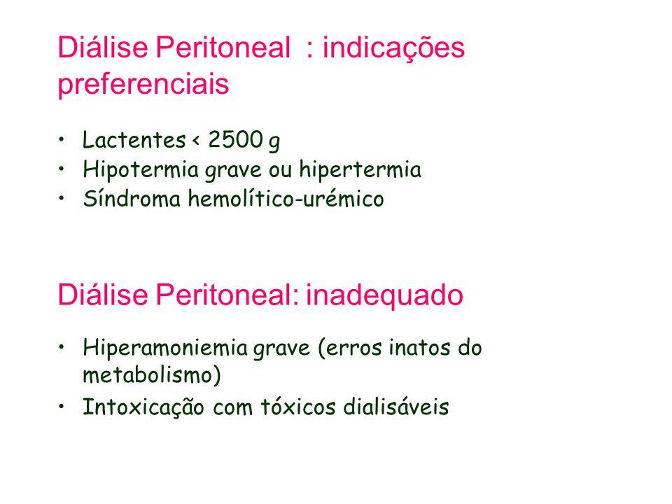 Diálise Peritoneal : indicações preferenciais