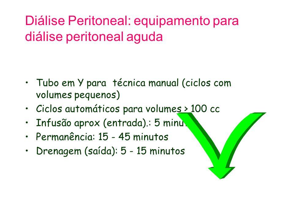 Diálise Peritoneal: equipamento para diálise peritoneal aguda
