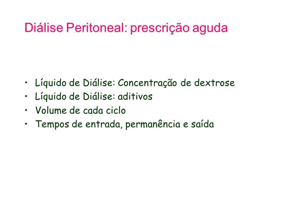 Diálise Peritoneal: prescrição aguda