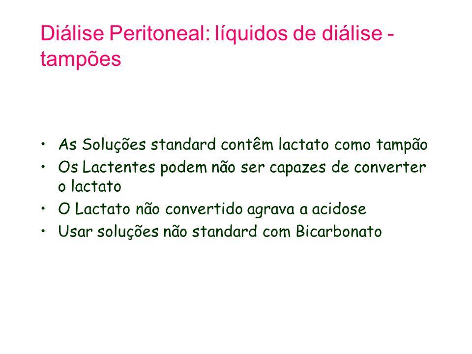 Diálise Peritoneal: líquidos de diálise - tampões