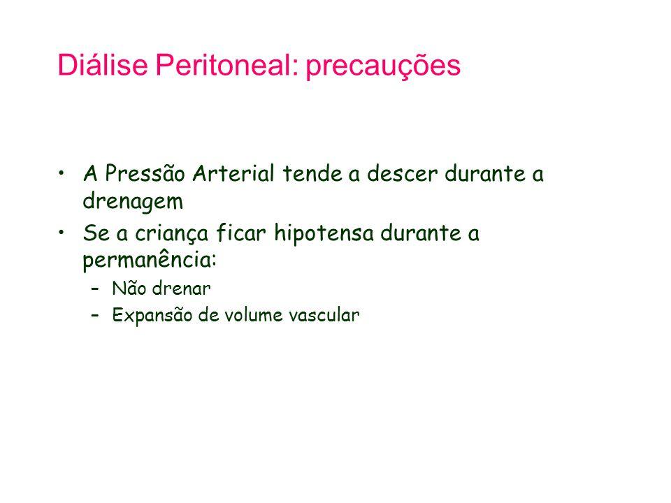 Diálise Peritoneal: precauções