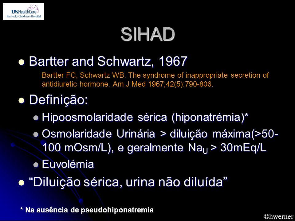SIHAD Bartter and Schwartz, 1967 Definição: