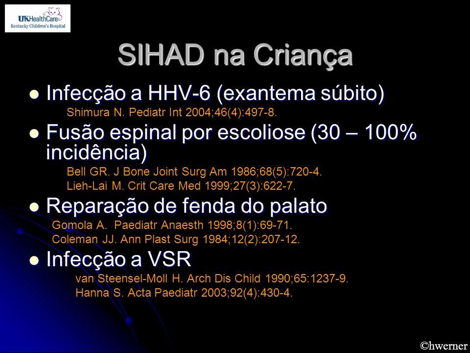 SIHAD na Criança Infecção a HHV-6 (exantema súbito)