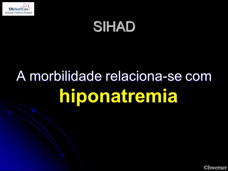 A morbilidade relaciona-se com hiponatremia