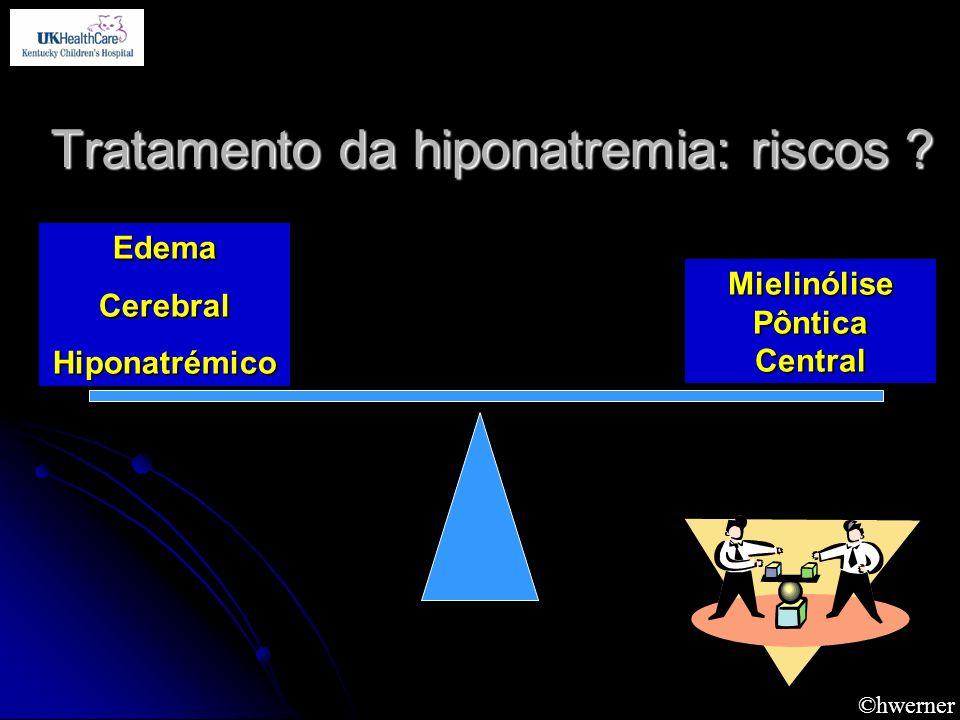 Tratamento da hiponatremia: riscos