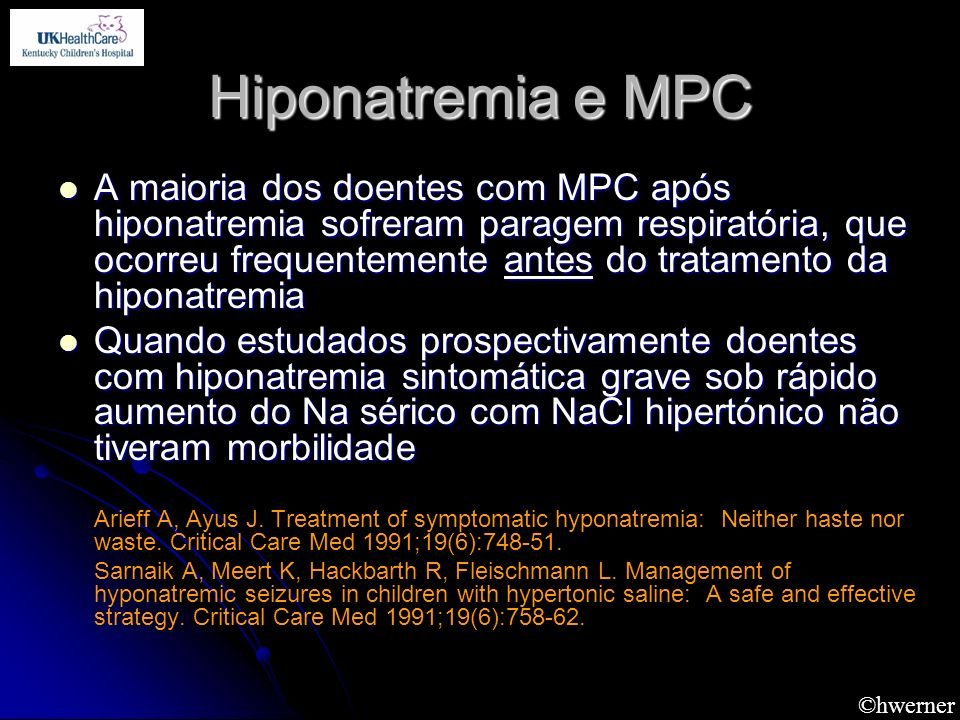 Hiponatremia e MPC