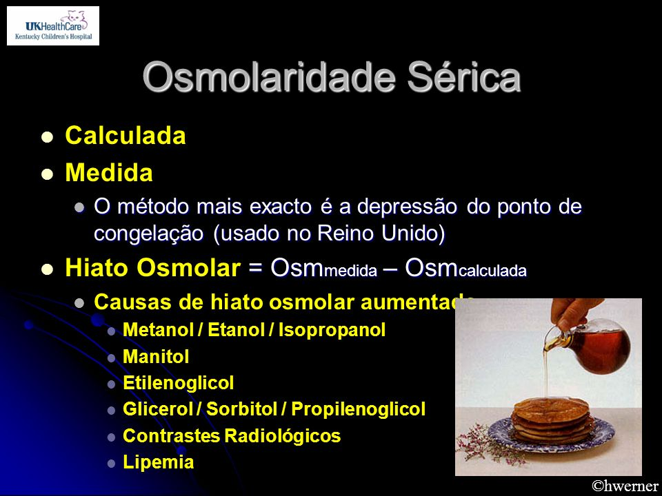 Osmolaridade Sérica Calculada Medida