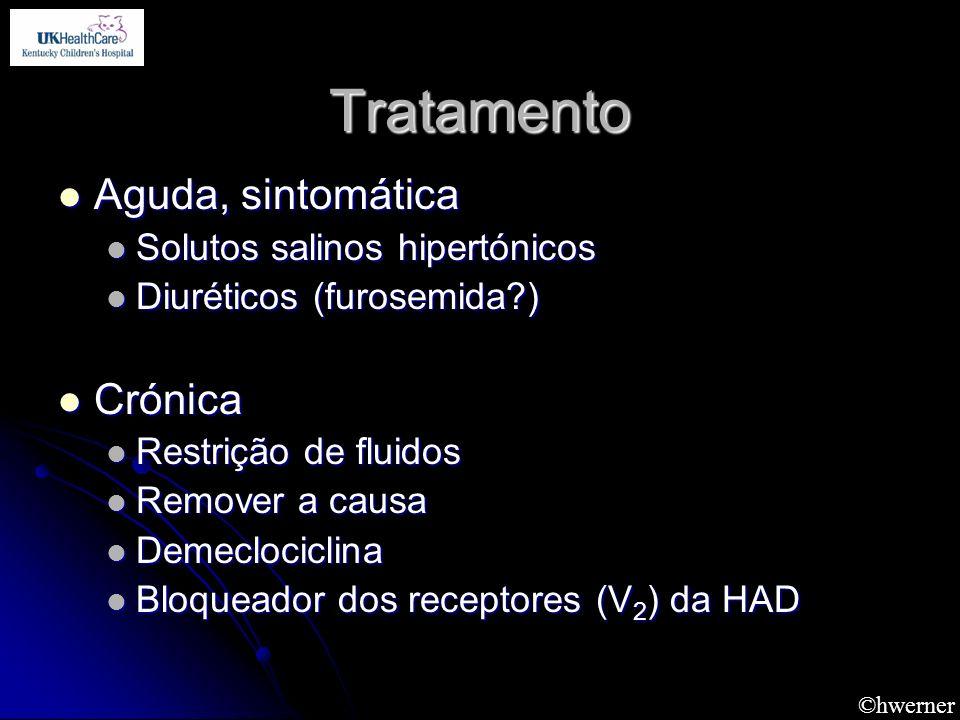 Tratamento Aguda, sintomática Crónica Solutos salinos hipertónicos