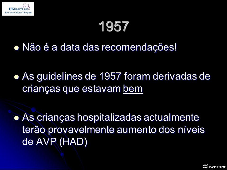 1957 Não é a data das recomendações!