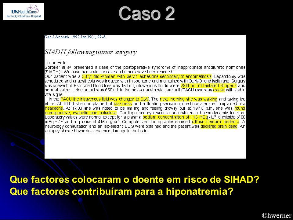 Caso 2 Que factores colocaram o doente em risco de SIHAD