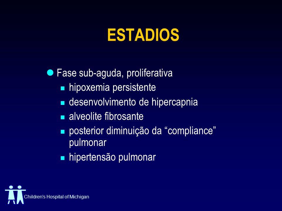 ESTADIOS Fase sub-aguda, proliferativa hipoxemia persistente