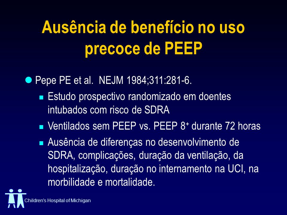 Ausência de benefício no uso precoce de PEEP