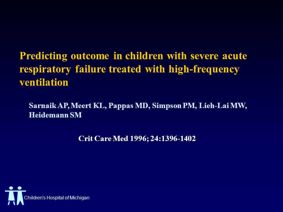 Predicting outcome in children with severe acute respiratory failure treated with high-frequency ventilation