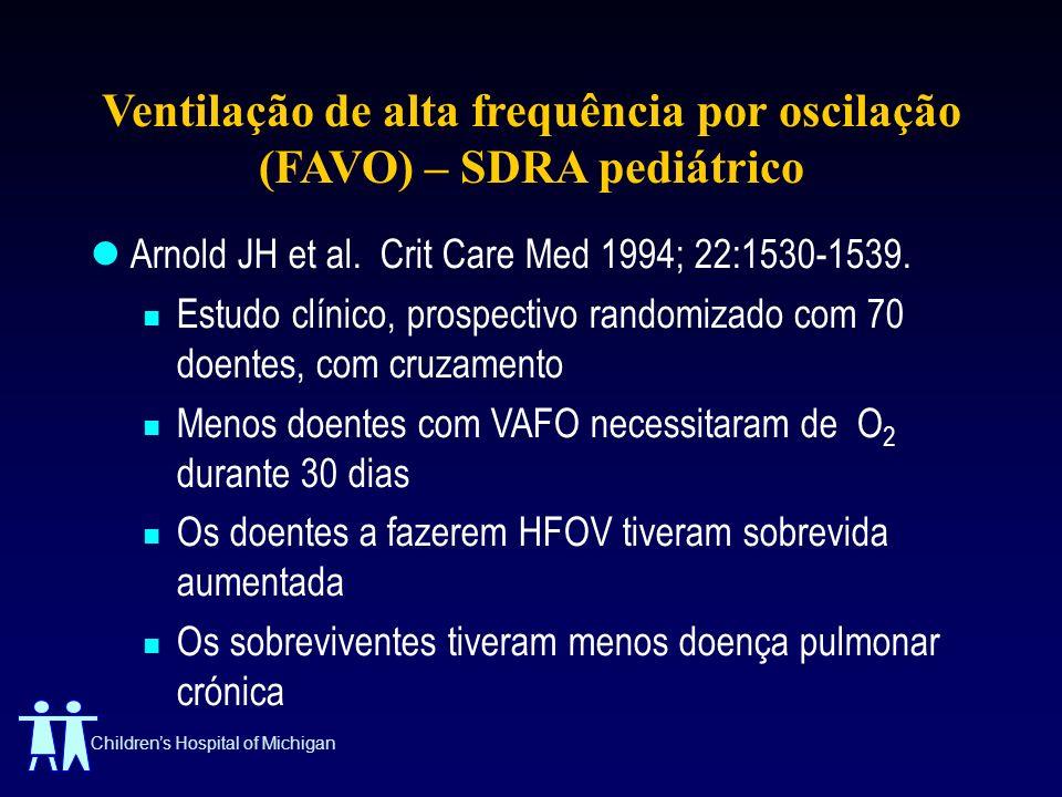 Ventilação de alta frequência por oscilação (FAVO) – SDRA pediátrico