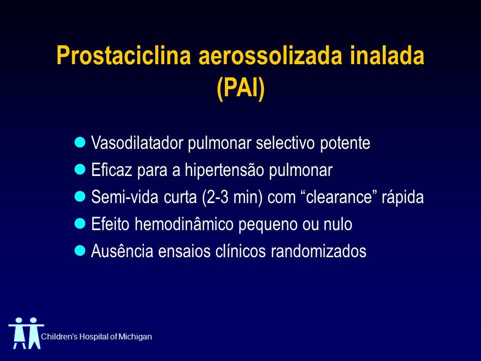 Prostaciclina aerossolizada inalada (PAI)