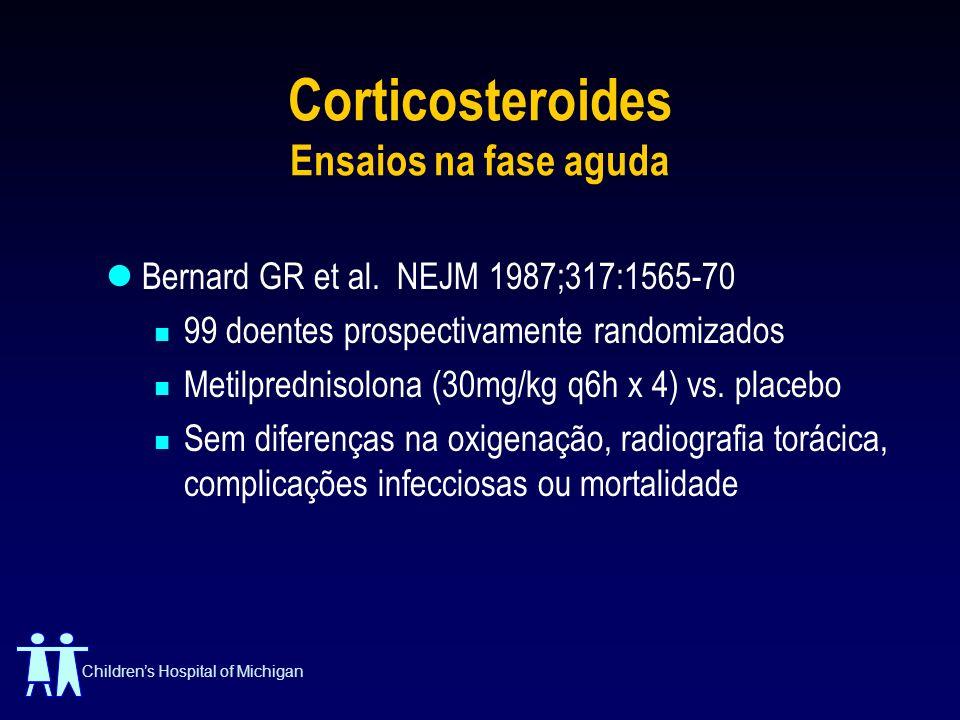 Corticosteroides Ensaios na fase aguda