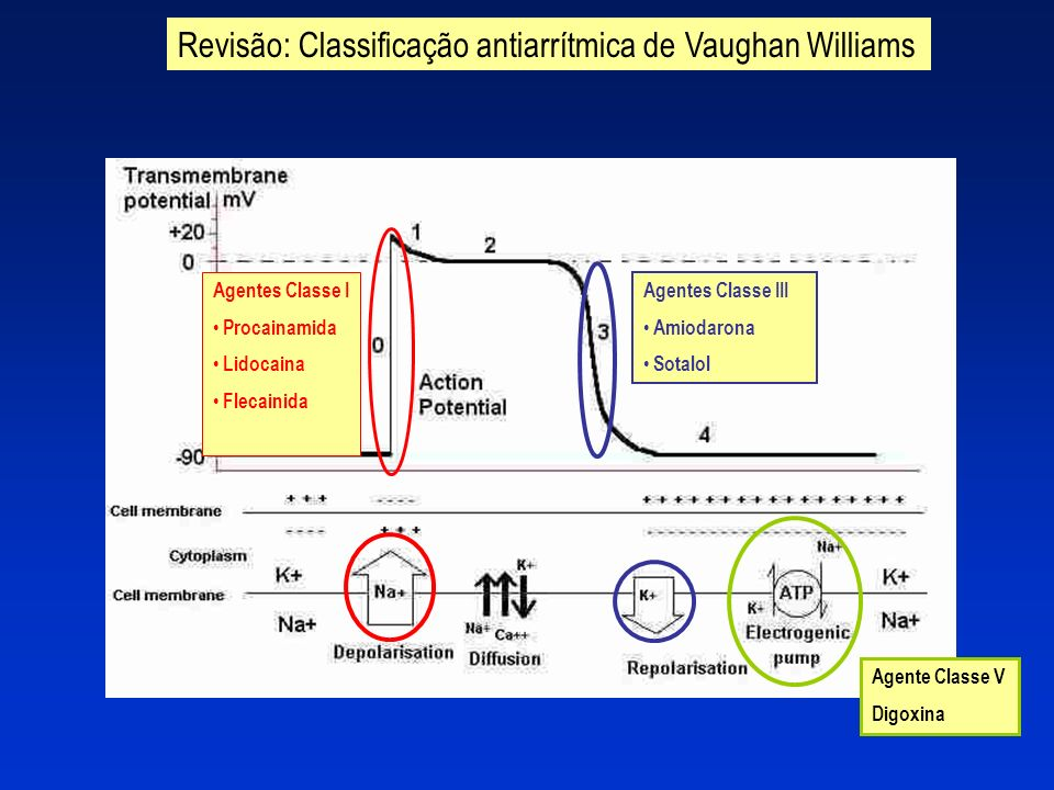 Revisão: Classificação antiarrítmica de Vaughan Williams