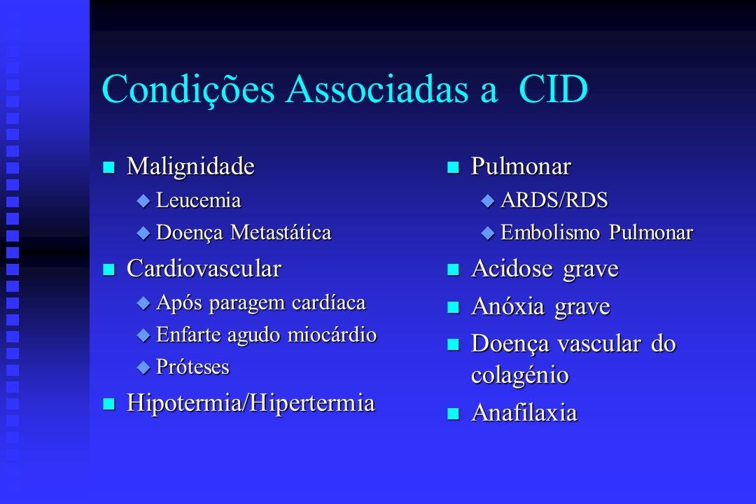 Condições Associadas a CID
