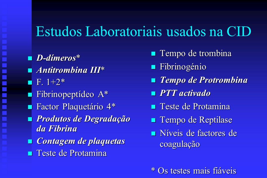 Estudos Laboratoriais usados na CID