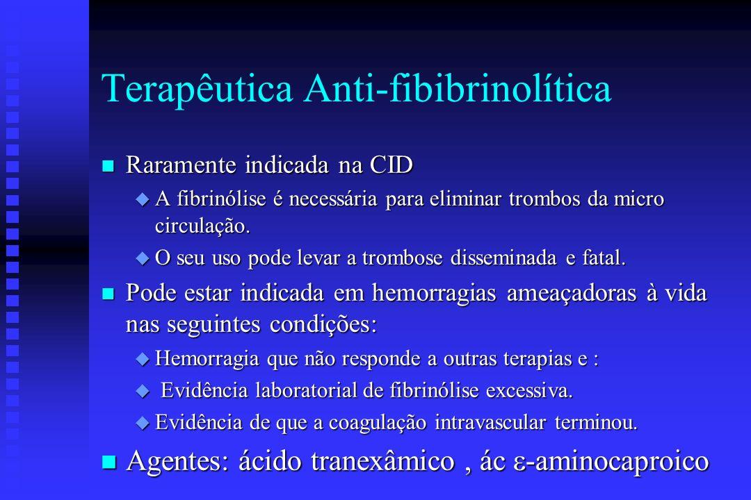Terapêutica Anti-fibibrinolítica