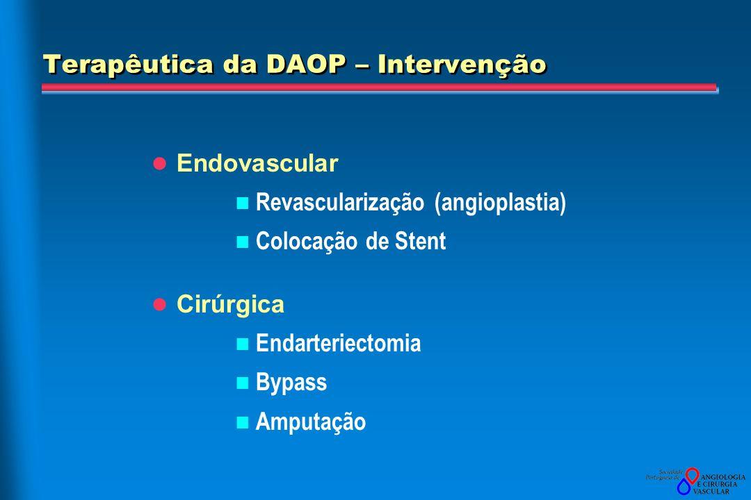 Terapêutica da DAOP – Intervenção