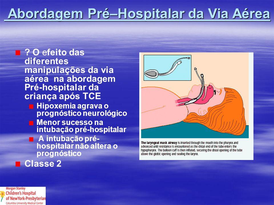 Abordagem Pré–Hospitalar da Via Aérea