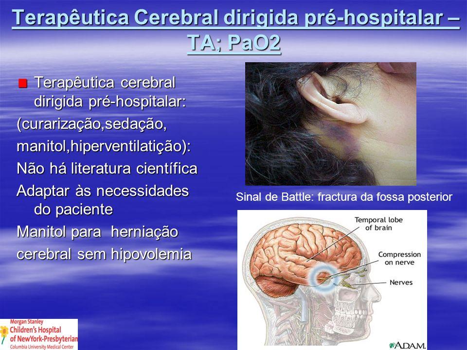 Terapêutica Cerebral dirigida pré-hospitalar – TA; PaO2
