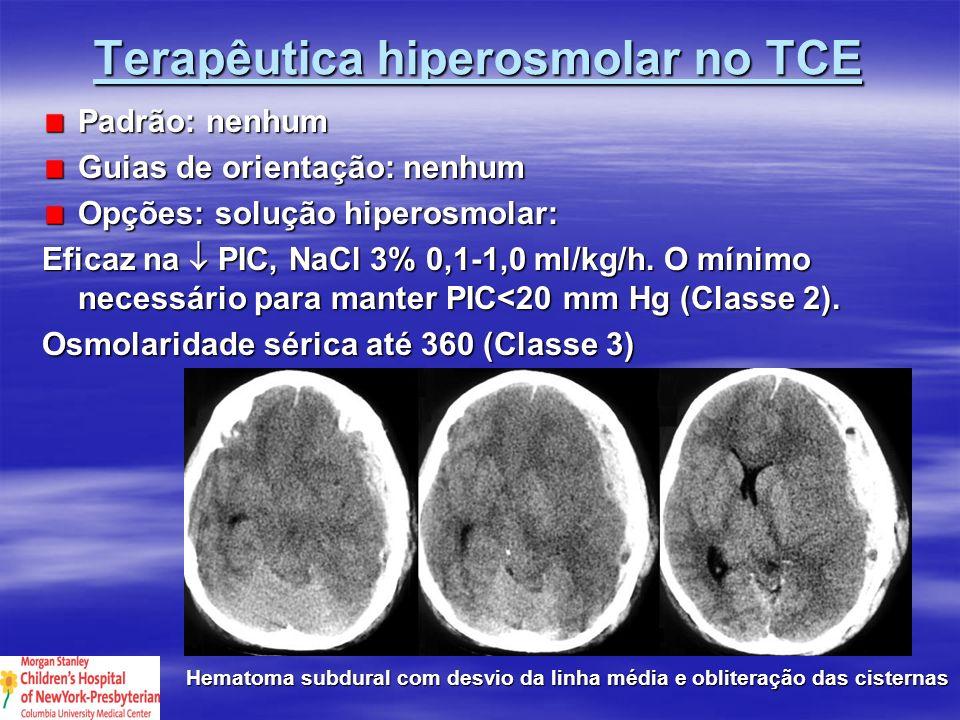 Terapêutica hiperosmolar no TCE