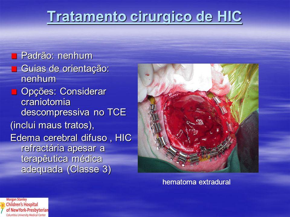 Tratamento cirurgico de HIC