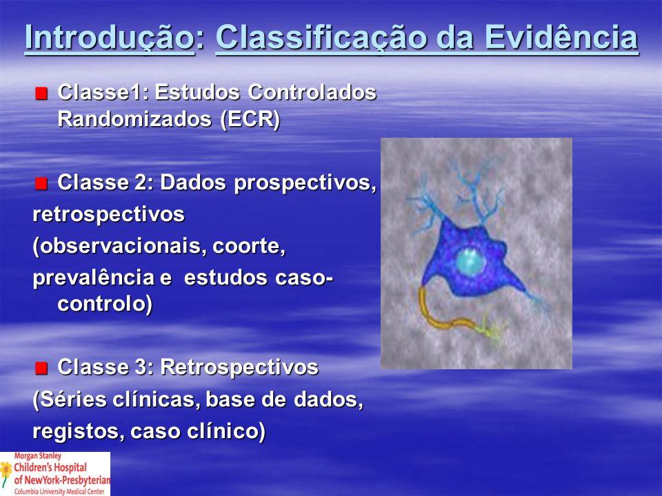Introdução: Classificação da Evidência